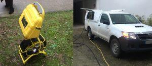 Camion assainissement, inspection caméra débouchage, fuite